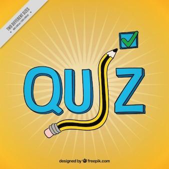 Gelb quiz hintergrund mit fragen