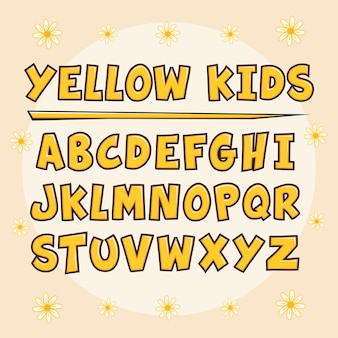 Gelb scherzt alphabet