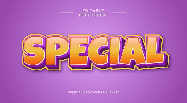 Gelb violett spezielle 3d bearbeitbare texteffektvorlage