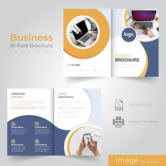 Gelbe abstrakte bifold broschüre design