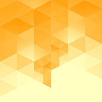 Gelbe abstrakte dreieck hintergrund