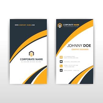 Gelbe abstrakte vertikale visitenkarte vorlage