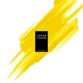 Gelbe aquarellfarbe strichvektor hintergrund