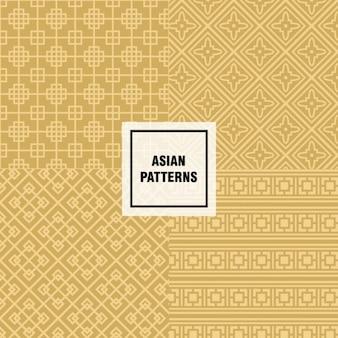 Gelbe asiatische design-muster