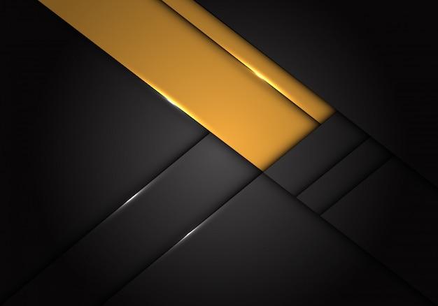 Gelbe aufkleberüberlappung auf dunkelgrauem metallischem hintergrund.