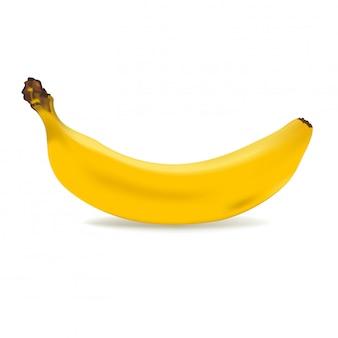 Gelbe banane isoliert