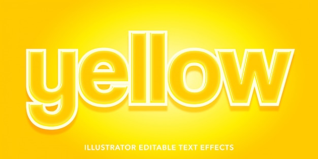 Gelbe bearbeitbare textstileffekte