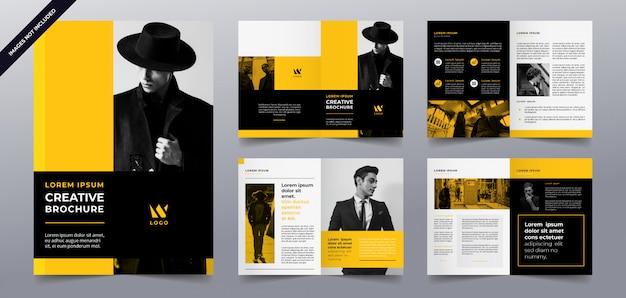 Gelbe business broschüre seiten vorlage