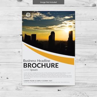 Gelbe business-broschüre