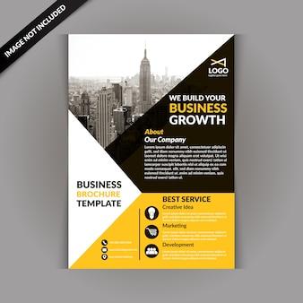 Gelbe business-magazin-vorlage
