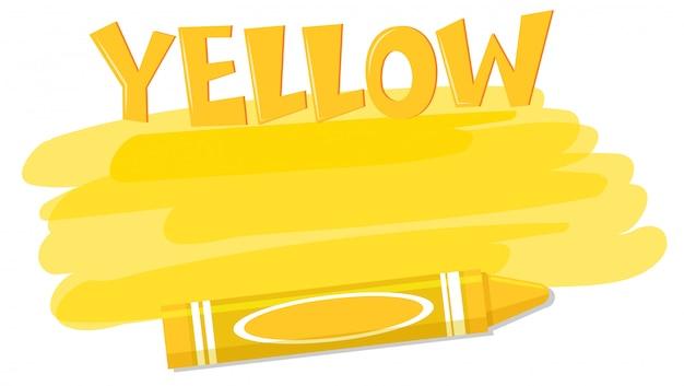Gelbe farbe und wachsmalstift