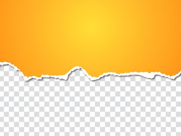 Gelbe farbe zerrissener zerrissener papiereffekthintergrundvektor