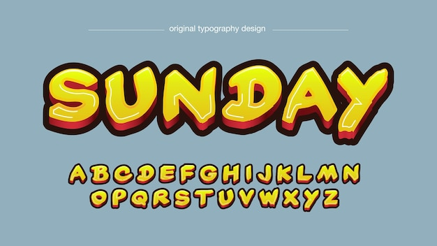 Gelbe fettpinsel-graffiti-typografie