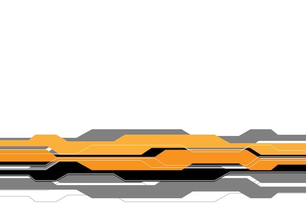 Gelbe graue linie futuristisch auf weißem leerem hintergrund.