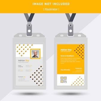 Gelbe id-karten-design