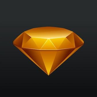 Gelbe juwelen im dunkeln