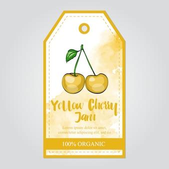 Gelbe kirschmarmeladensammlung