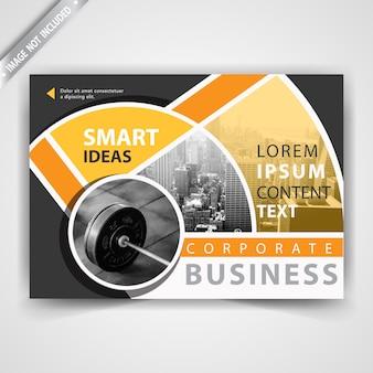 Gelbe kommerzielle horizontale Broschürenvorlage