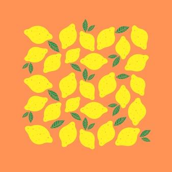 Gelbe küche des zitronenartvektor-illustrationsminimalismus