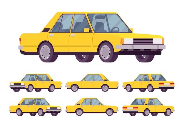 Gelbe limousine eingestellt
