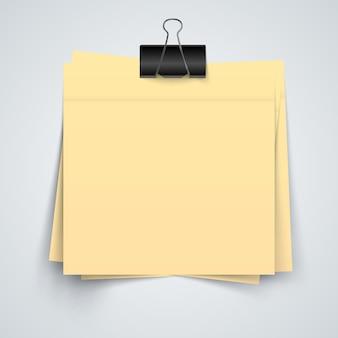 Gelbe papierfahne