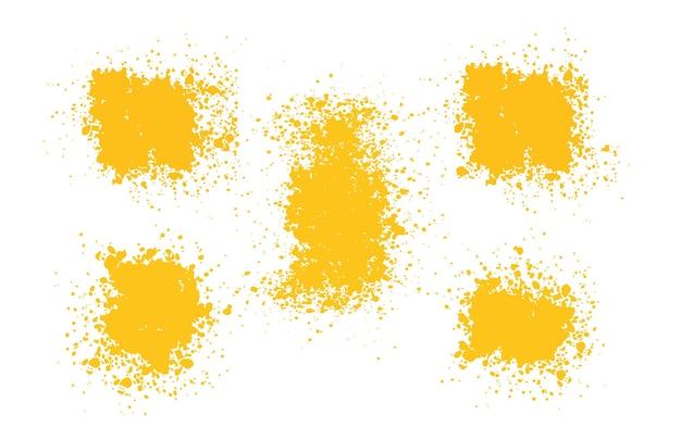 Gelbe pinsel malen texturen striche gelbe schmierpinsel