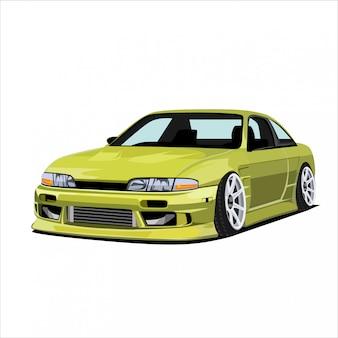 Gelbe racing city car illustration