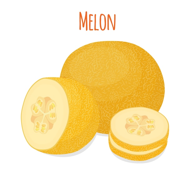 Gelbe reife melone