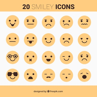 Gelbe smiley-icons