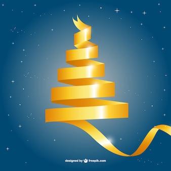 Gelbe spitze weihnachtsbaum