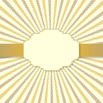 Gelbe und braune karte der weinlese mit textraum