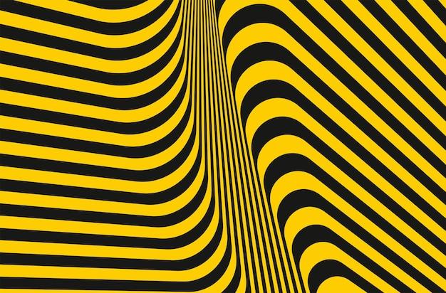 Gelbe und dunkelgraue streifenlinien mustern geometrisches texturdesign