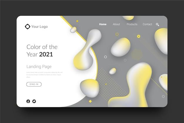 Gelbe und graue abstrakte landingpage