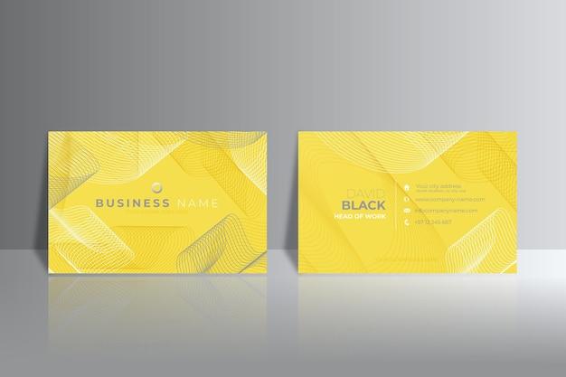 Gelbe und graue abstrakte visitenkarten