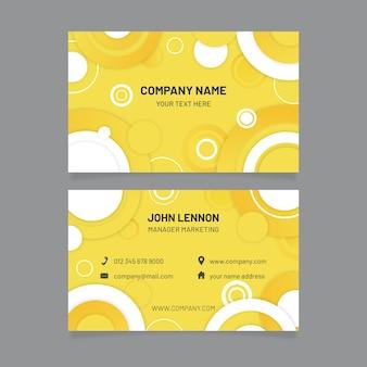 Gelbe und graue visitenkartenschablone