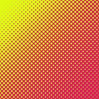 Gelbe und rosa halbton-punkte hintergrund
