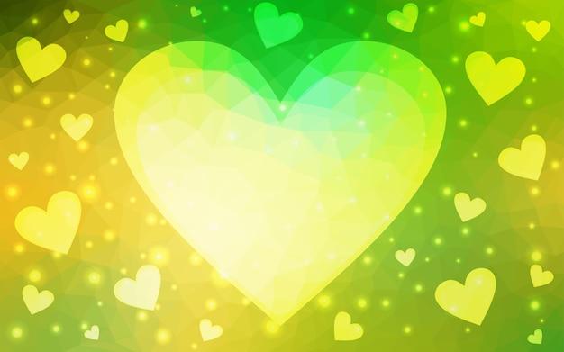 Gelbe vektorgruß karte glücklicher valentinstag