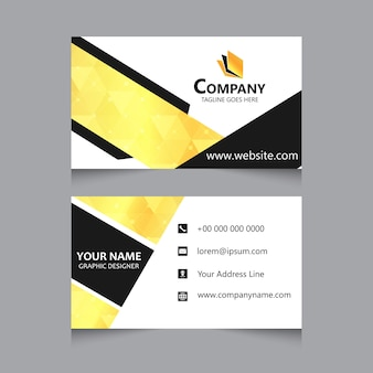 Gelbe visitenkartenvorlage