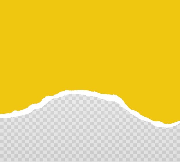 Gelbe zerrissene papierstreifen realistisch zerrissenes papier nahtlos horizontal vektor