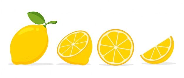Gelbe zitrone. zitrone ist eine säurehaltige frucht mit hohem vitamin c. hilft, sich frisch zu fühlen.