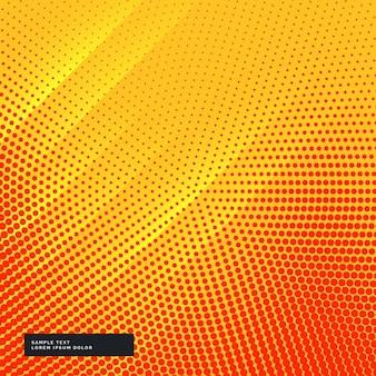 Gelben hintergrund mit kreisförmigen halbton-effekt