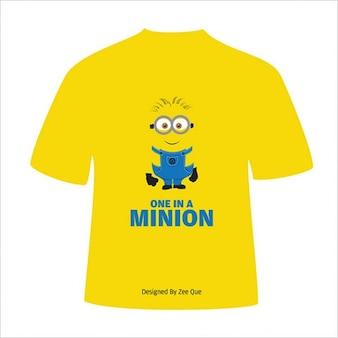 Gelben t-shirt-design-vektor