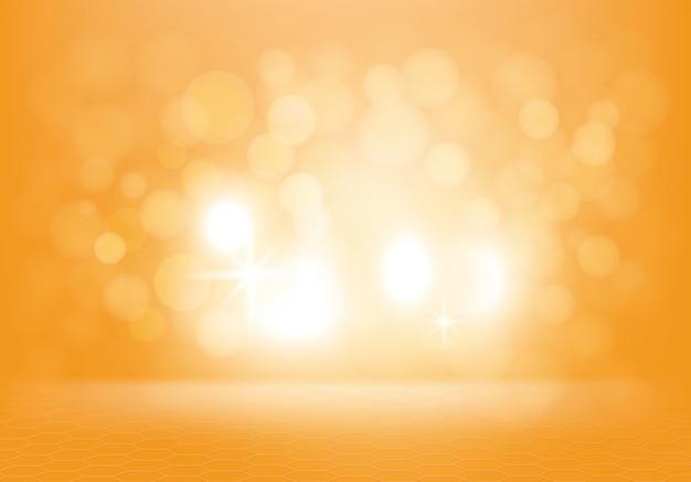 Gelber abstrakter hintergrund mit blitzen