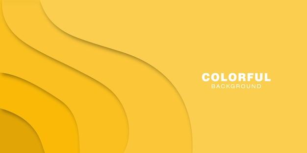 Gelber abstrakter papierschnitthintergrund