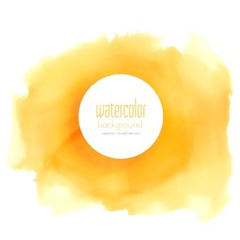 Gelber aquarellfleck vektor hintergrund