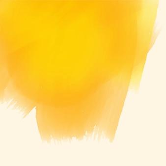 Gelber aquarellpinselanschlaghintergrund