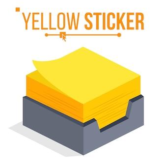 Gelber aufkleber