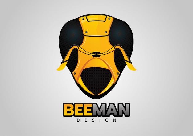 Gelber bienenroboter-logodesign