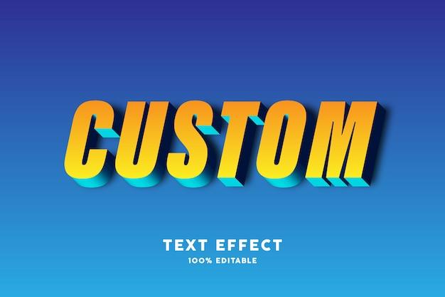 Gelber blauer effekt des textes 3d