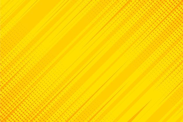 Gelber comic-hintergrund des flachen entwurfs